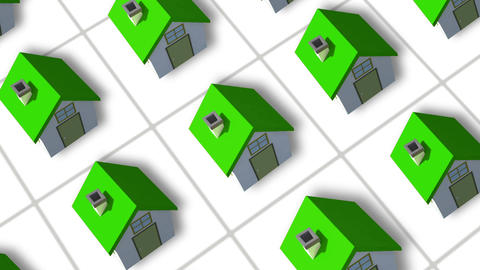 Building Up A Housing Estate Animation stock footage
