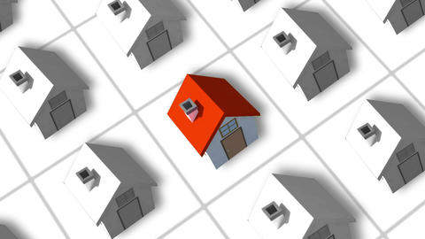 Housing Estate Forming Animation stock footage