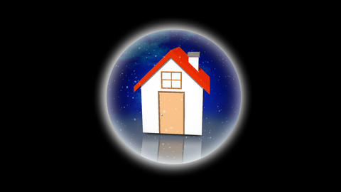 House in a snow globe animation Animation