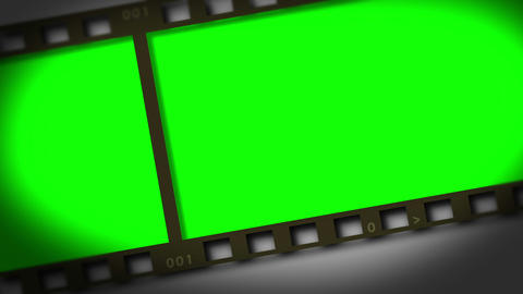 Horizontal movie strip showing chroma key spaces Stock Video Footage