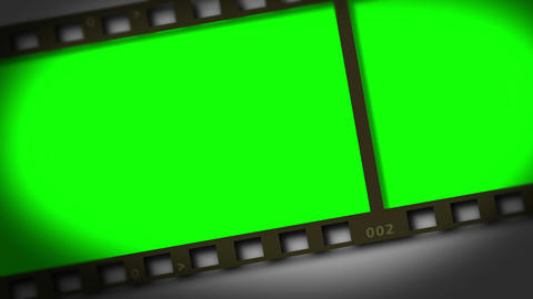 Horizontal movie strip showing chroma key spaces Footage