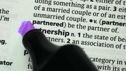 Partnership highlighted in purple Footage