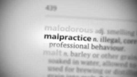 Focus on malpractice Footage