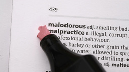Malpractice highlighted in pink Footage