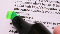 Advocacy highlighted in green Live Action