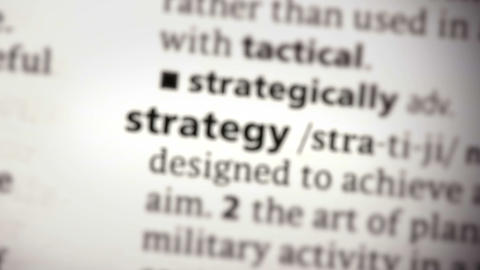 Focus on strategy Footage