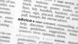 Focus on advice Footage