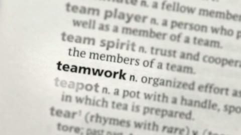 Focus on teamwork Footage