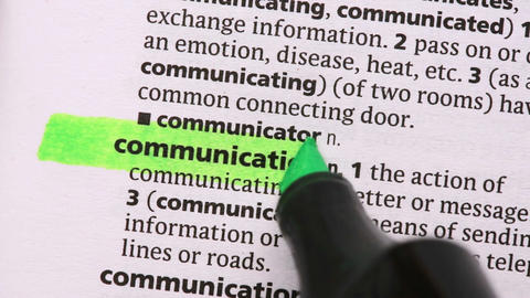 Communication highlighted in green Live Action