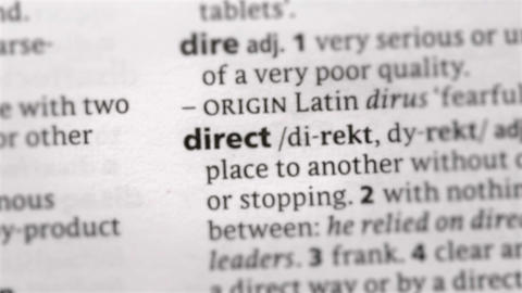 Focus on direct Footage
