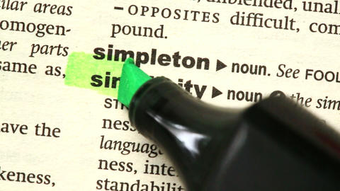 Simplicity highlighted in green Live Action
