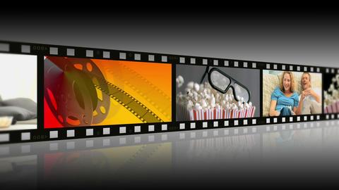 Montage of people enjoying movies Animation