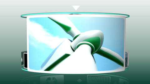 Animation of solar and wind energy Animation