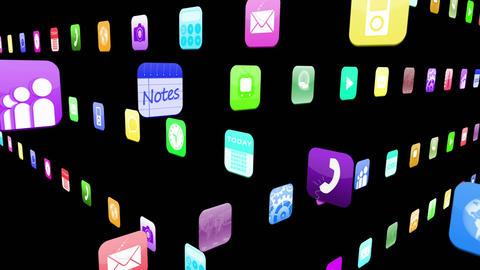 Interlocking application icons Animation