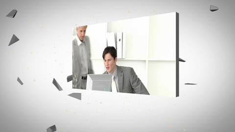 Montage of architects and business people Animation