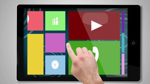 Leisure montage on digital tablet Animation