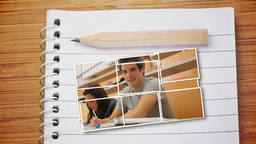 Pictures Of Students Attending Class stock footage