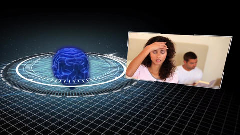 Animation showing various people with headache Animation
