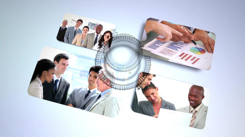 Animation of clips with business people Animation