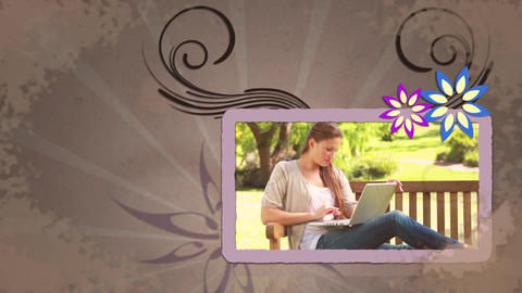 Animation showing women with laptop Animation