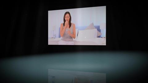 Animation of woman having headache Animation