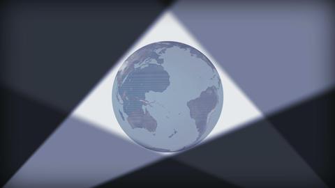 Earth revolving with illumination around it Animation