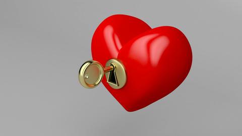 Unlocking red heart Animation