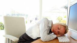 Businesswoman having a nap Footage