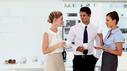 Business people having a coffee at break time Footage