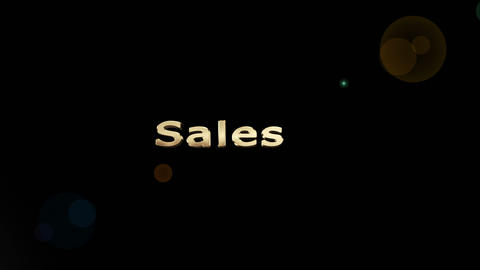 Montage of business terms appearing in gold Animation
