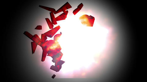 The word bombs landing and exploding Animation