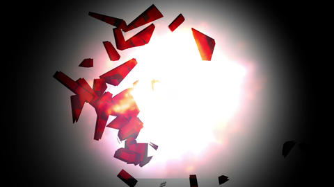 The word debt landing and exploding Animation