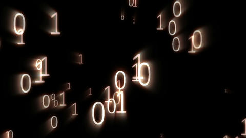 Digital animation of binary codes floating Stock Video Footage