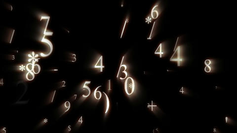 Digital animation of numbers and data floating everywhere Stock Video Footage