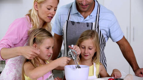 Family making pastry together Footage