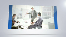 Screens showing business situations Animation