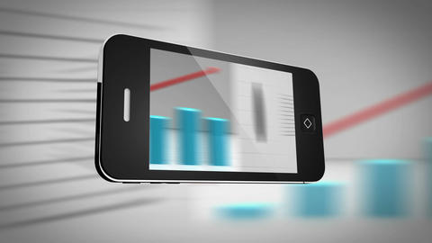 Smartphone showing different statistics Animation