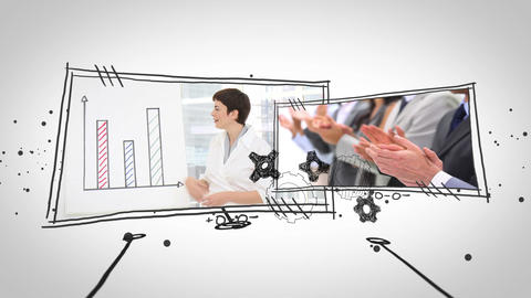 Video of business people at work Animation