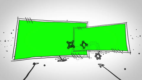 Green screens popping up Animation