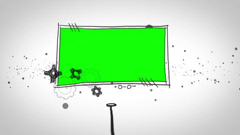 Two green screen popping up Animation