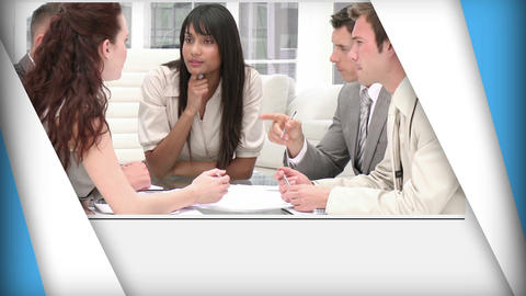 Short clips of business people at work Animation