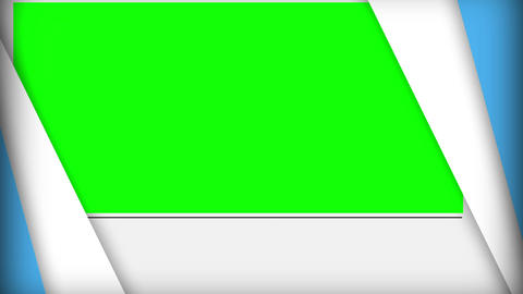 Green screens popping up and disappearing diagonal Animation