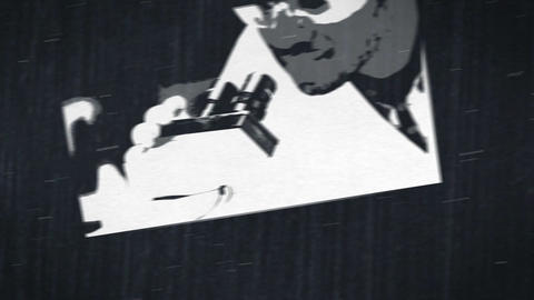 Short clips of lab assistants in labor in black and white Animation