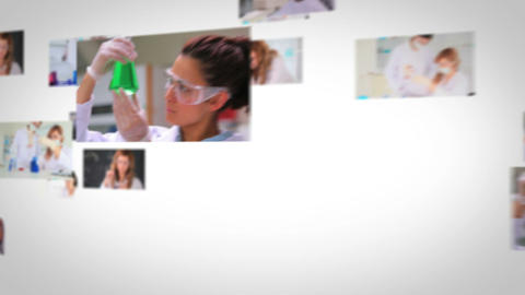 Flying short clips about lab assistants Animation
