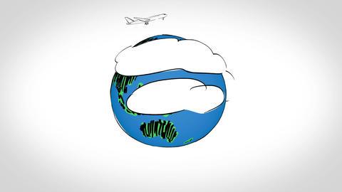Animation on global aviation Animation