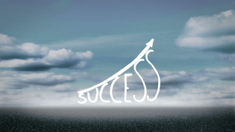 Success graphic growing Animation