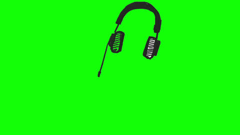Drawing Of Headphones stock footage