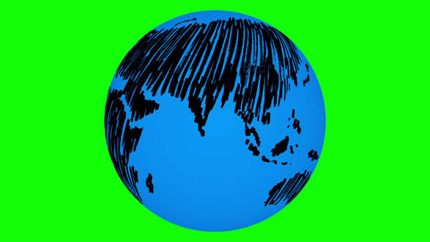 Rotating painted earth Animation