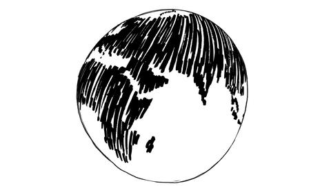 Gestating rotating painted earth Animation