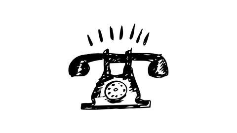 Gestating painted telephone ringing Animation
